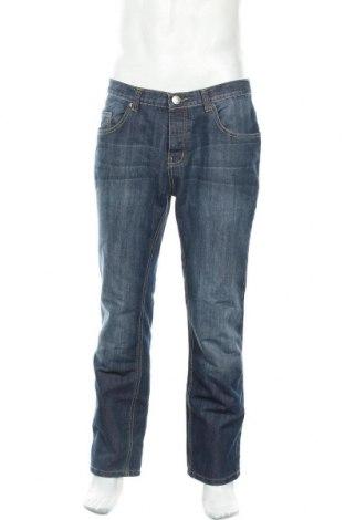Мъжки дънки Denim Co, Размер L, Цвят Син, 60% памук, 40% полиестер, Цена 27,30лв.