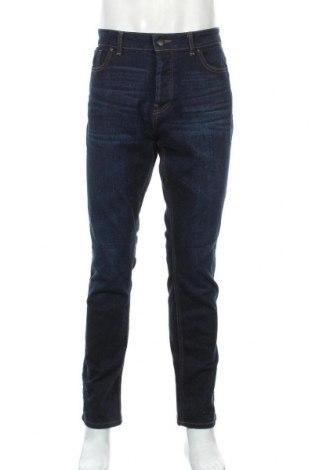 Мъжки дънки Denim Co, Размер L, Цвят Син, 98% памук, 2% еластан, Цена 23,21лв.