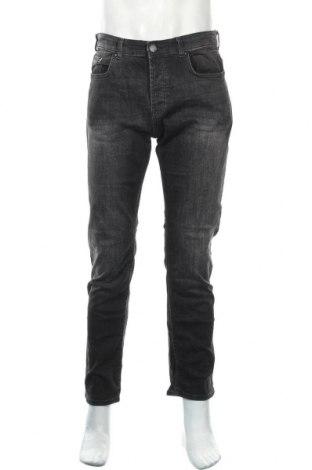 Мъжки дънки Denim Co, Размер M, Цвят Сив, 98% памук, 2% еластан, Цена 29,40лв.