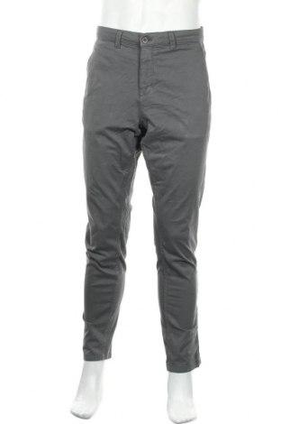 Мъжки панталон Zara, Размер M, Цвят Сив, 97% памук, 3% еластан, Цена 18,72лв.