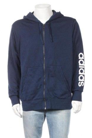 Ανδρικό φούτερ Adidas, Μέγεθος XL, Χρώμα Μπλέ, 70% βαμβάκι, 30% πολυεστέρας, Τιμή 29,23€