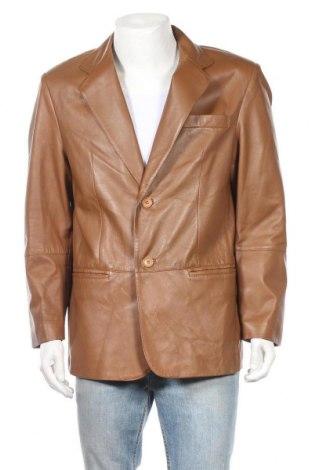 Ανδρικό δερμάτινο σακάκι Walbusch, Μέγεθος XL, Χρώμα Καφέ, Γνήσιο δέρμα, Τιμή 53,07€