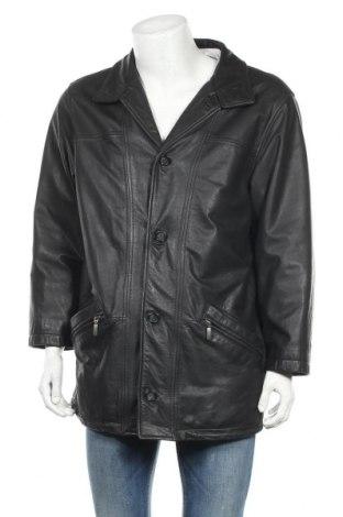 Ανδρικό δερμάτινο μπουφάν Walbusch, Μέγεθος XL, Χρώμα Μαύρο, Γνήσιο δέρμα, Τιμή 39,62€