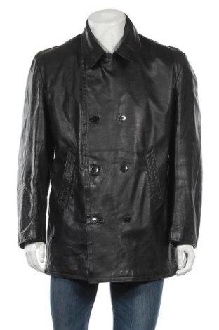 Ανδρικό δερμάτινο μπουφάν, Μέγεθος L, Χρώμα Μαύρο, Γνήσιο δέρμα, Τιμή 17,05€
