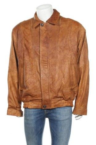 Pánská kožená bunda , Velikost XL, Barva Hnědá, Pravá kůže, Cena  504,00Kč