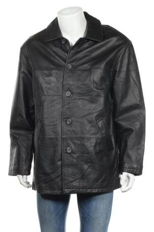 Мъжко кожено яке Angelo Litrico, Размер L, Цвят Черен, Естествена кожа, Цена 8,44лв.