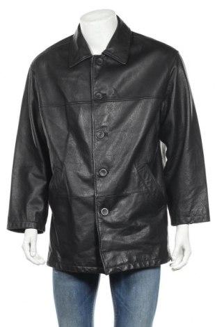 Мъжко кожено яке Angelo Litrico, Размер M, Цвят Черен, Естествена кожа, Цена 7,76лв.