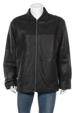 Ανδρικό δερμάτινο μπουφάν Camel Active, Μέγεθος XL, Χρώμα Μαύρο, Γνήσιο δέρμα, Τιμή 69,56€
