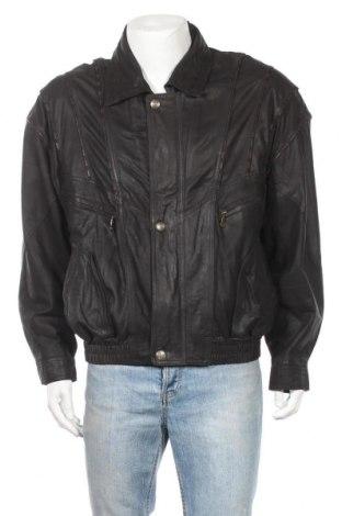 Ανδρικό δερμάτινο μπουφάν Canadian, Μέγεθος L, Χρώμα Μαύρο, Γνήσιο δέρμα, Τιμή 25,66€
