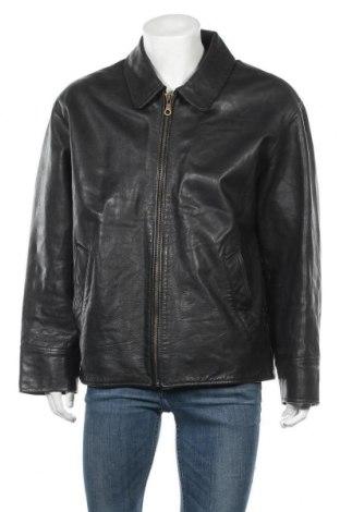 Ανδρικό δερμάτινο μπουφάν Gipsy, Μέγεθος L, Χρώμα Μαύρο, Γνήσιο δέρμα, Τιμή 24,10€
