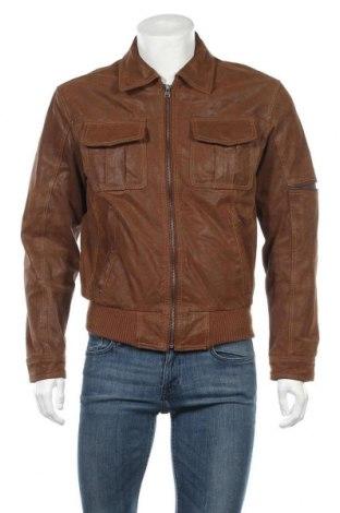 Мъжко кожено яке Grey Connection, Размер S, Цвят Кафяв, Естествена кожа, Цена 85,79лв.