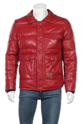 Ανδρικό δερμάτινο μπουφάν Lee Cooper, Μέγεθος L, Χρώμα Κόκκινο, Δερματίνη, Τιμή 37,11€