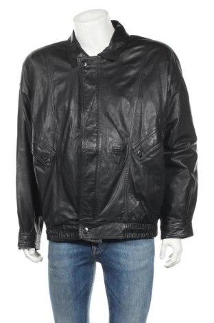 Мъжко кожено яке Maddox, Размер XL, Цвят Черен, Естествена кожа, Цена 23,10лв.