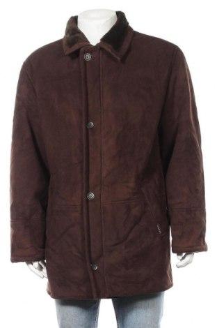 Мъжко палто, Размер XL, Цвят Кафяв, Полиестер, Цена 10,28лв.