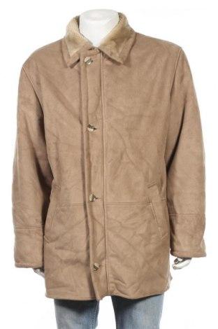 Мъжко палто, Размер XL, Цвят Бежов, 100% полиестер, Цена 16,80лв.