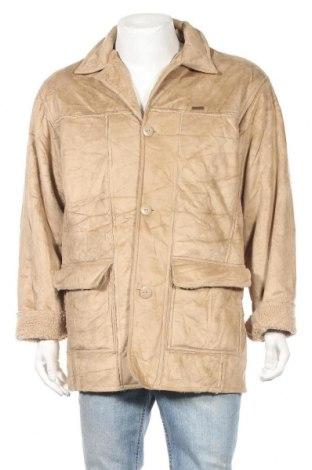 Мъжко палто, Размер L, Цвят Бежов, 100% полиестер, Цена 11,04лв.