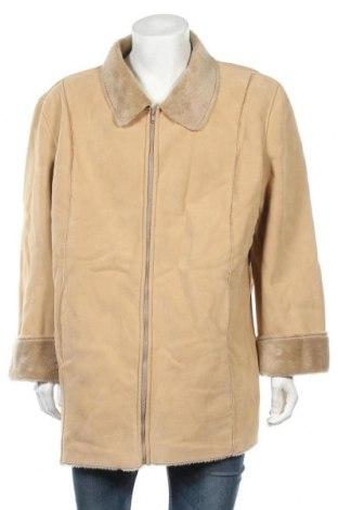 Palton de bărbați, Mărime XL, Culoare Bej, 75% poliester, 25% viscoză, Preț 80,08 Lei