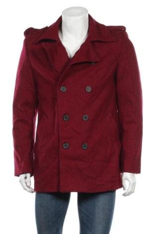 Ανδρικά παλτό Bossini, Μέγεθος L, Χρώμα Κόκκινο, 50% μαλλί, 50% πολυεστέρας, Τιμή 33,77€