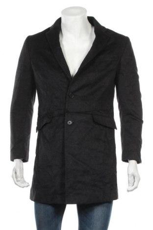Ανδρικά παλτό Bossini, Μέγεθος M, Χρώμα Μαύρο, Μαλλί, Τιμή 24,91€