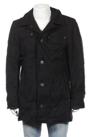 Ανδρικά παλτό Camel Active, Μέγεθος L, Χρώμα Μαύρο, 80% μαλλί, 20% πολυαμίδη, Τιμή 77,29€