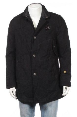 Мъжко палто G-Star Raw, Размер L, Цвят Черен, 70% вълна, 30% полиамид, Цена 132,30лв.