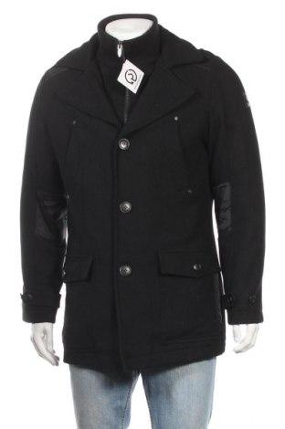 Ανδρικά παλτό Tantum O.N., Μέγεθος M, Χρώμα Μαύρο, 45% μαλλί, 31% πολυεστέρας, 24% βισκόζη, Τιμή 21,95€