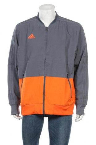 Ανδρική αθλητική ζακέτα Adidas, Μέγεθος XL, Χρώμα Γκρί, Πολυεστέρας, Τιμή 34,02€