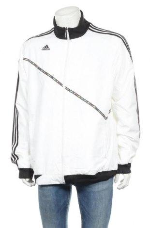 Ανδρικό αθλητικό μπουφάν Adidas, Μέγεθος L, Χρώμα Λευκό, Πολυεστέρας, Τιμή 27,28€
