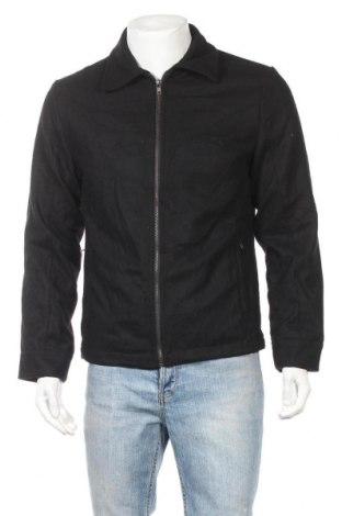 Ανδρικό μπουφάν Ponti, Μέγεθος M, Χρώμα Μαύρο, 50% μαλλί, 50% πολυεστέρας, Τιμή 22,73€