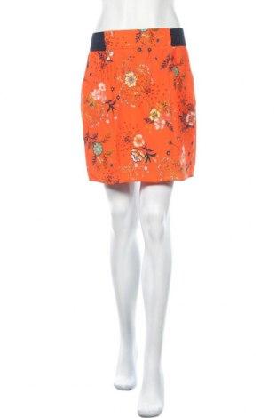 Пола Naf Naf, Размер M, Цвят Оранжев, Вискоза, Цена 51,75лв.