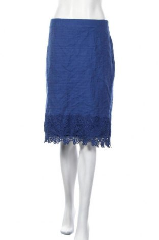 Φούστα Talbots, Μέγεθος XL, Χρώμα Μπλέ, Βαμβάκι, Τιμή 9,01€
