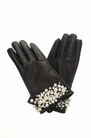Γάντια Zara, Χρώμα Μαύρο, Δερματίνη, Τιμή 12,66€