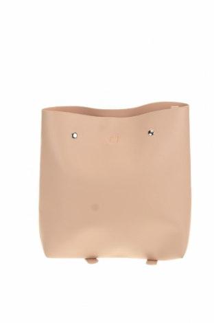 Раница Pull&Bear, Цвят Розов, Еко кожа, Цена 44,10лв.