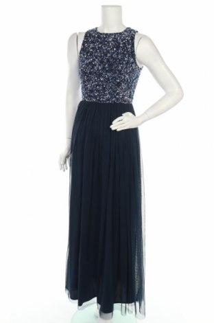 Рокля Lace & Beads, Размер S, Цвят Син, Полиестер, Цена 42,25лв.