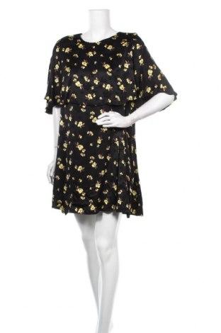 Рокля Zara, Размер XXL, Цвят Черен, Вискоза, Цена 33,00лв.