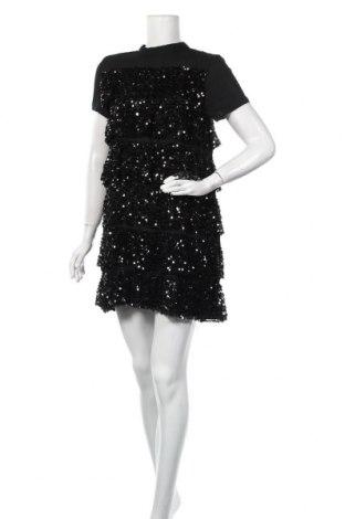 Рокля Zara, Размер S, Цвят Черен, Полиестер, Цена 20,50лв.