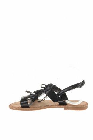Сандали Rue Princesse, Размер 40, Цвят Черен, Еко кожа, Цена 31,60лв.