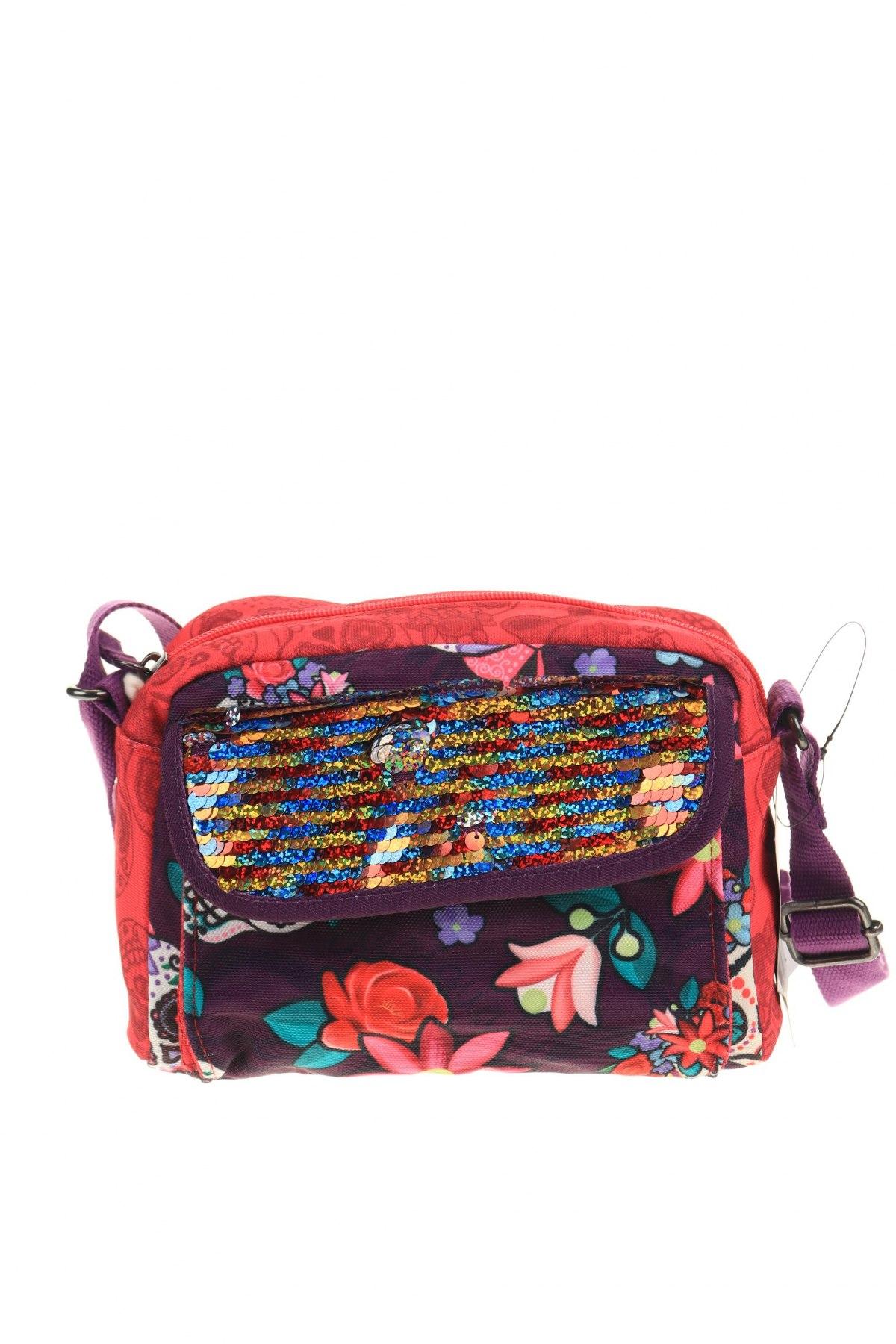 Дамска чанта Desigual, Цвят Многоцветен, Текстил, Цена 104,25лв.
