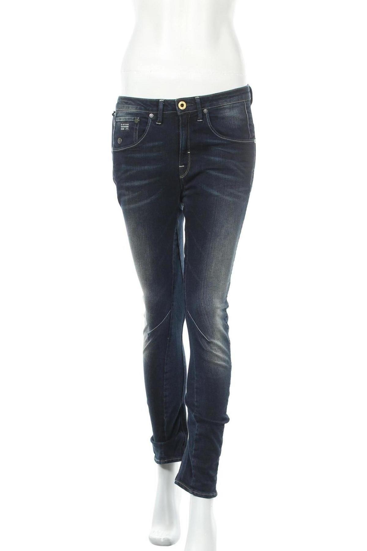 Дамски дънки G-Star Raw, Размер S, Цвят Син, 99% памук, 1% еластан, Цена 42,12лв.