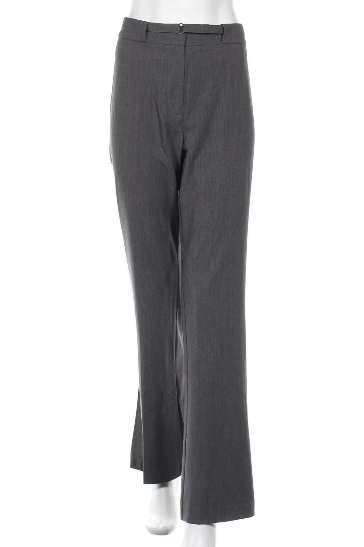Дамски панталон Stefanel, Размер M, Цвят Сив, 62% полиестер, 33% вискоза, 5% еластан, Цена 29,31лв.
