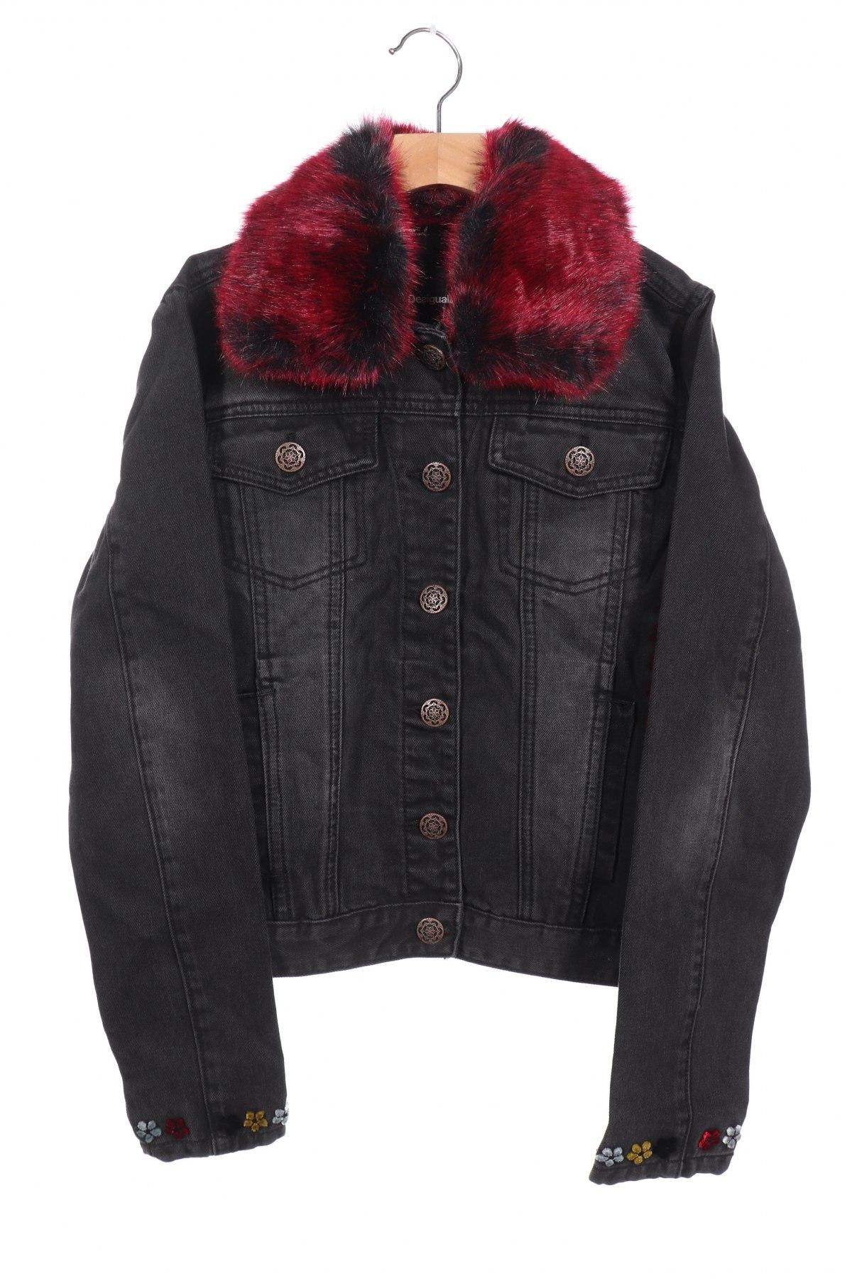 Дамско яке Desigual, Размер XS, Цвят Сив, 72% памук, 28% полиестер, Цена 40,40лв.