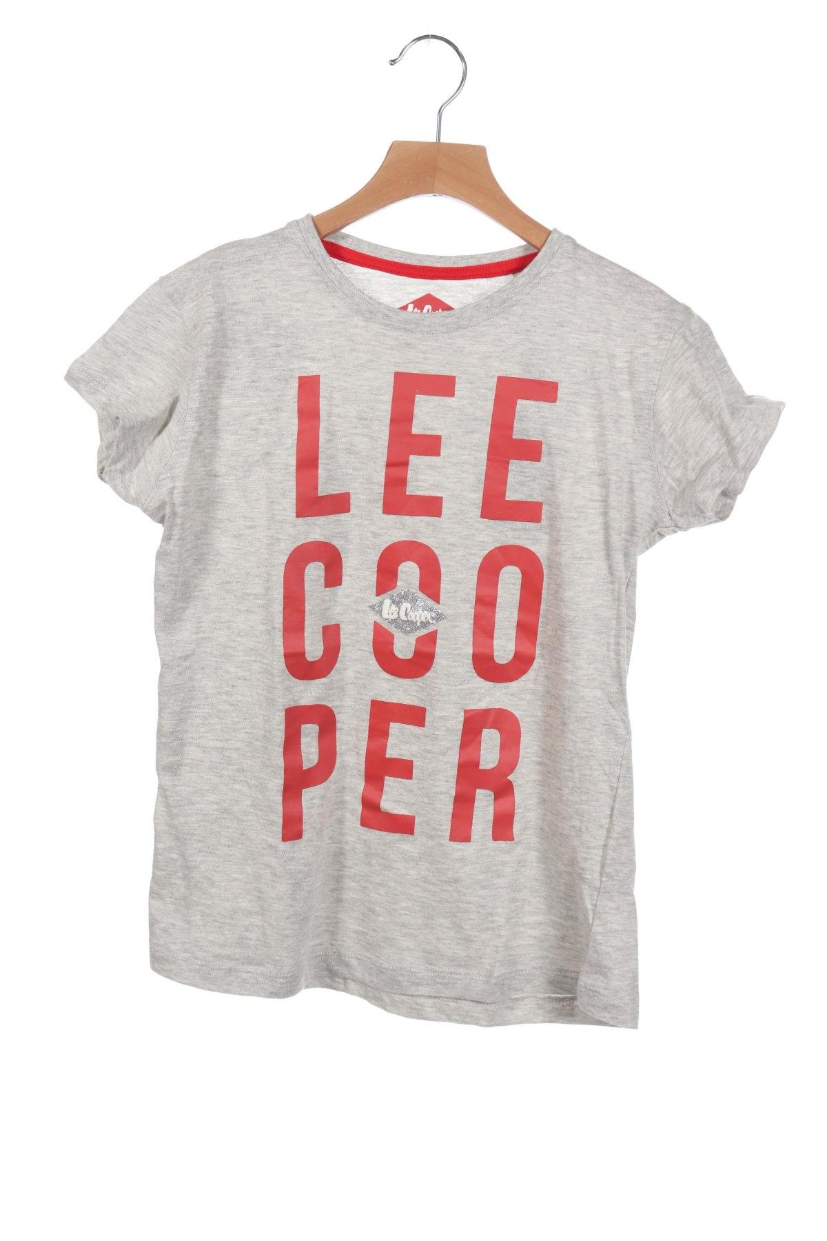 Детска тениска Lee Cooper, Размер 13-14y/ 164-168 см, Цвят Сив, 95% памук, 5% еластан, Цена 21,75лв.