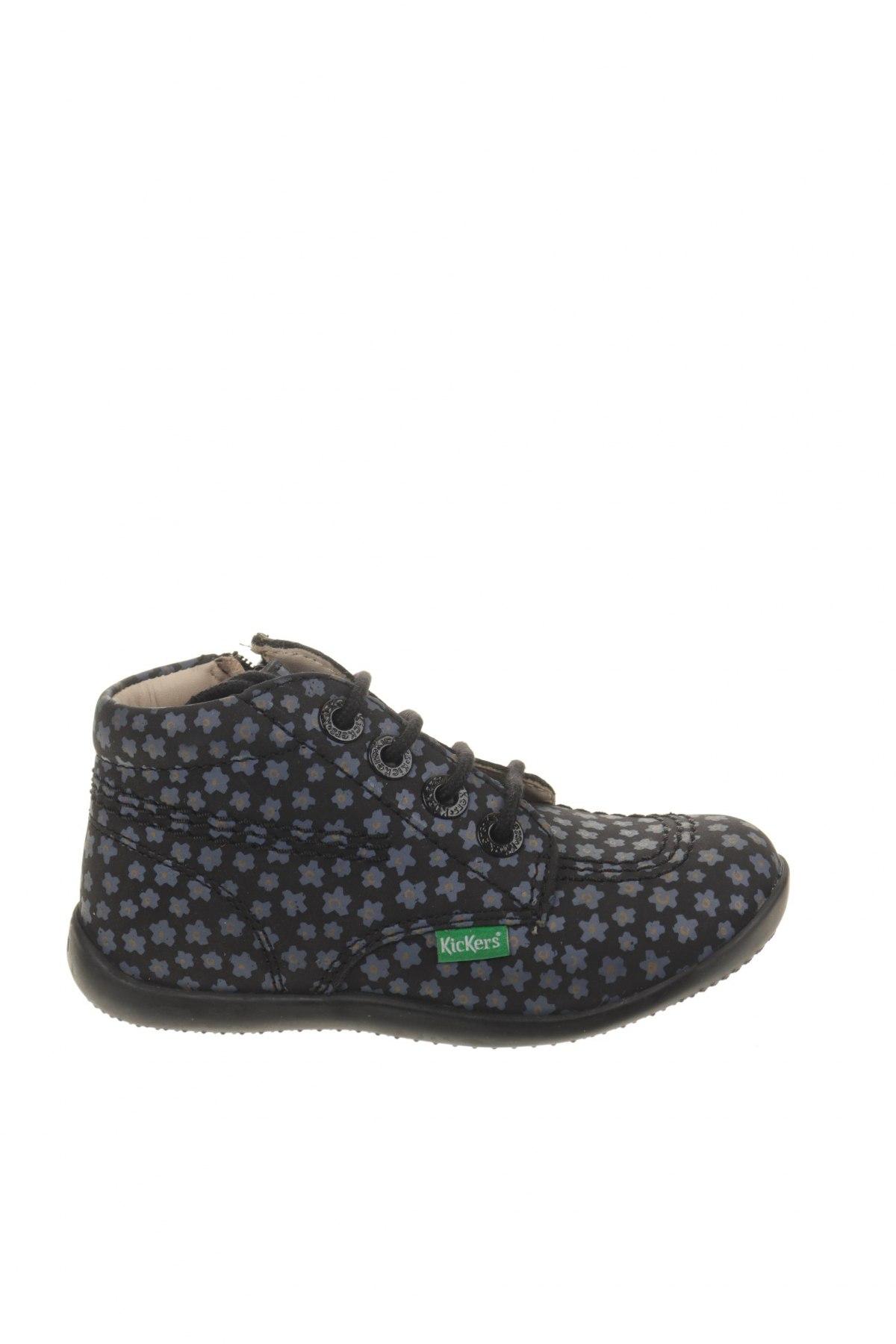 Παιδικά παπούτσια Kickers, Μέγεθος 25, Χρώμα Μπλέ, Γνήσιο δέρμα, Τιμή 30,54€
