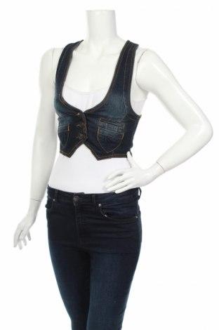 Γυναικείο γιλέκο Highway Jeans, Μέγεθος S, Χρώμα Μπλέ, 73% βαμβάκι, 25% πολυεστέρας, 2% ελαστάνη, Τιμή 4,42€