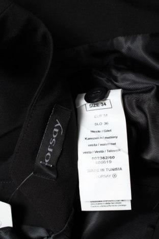Дамски елек Orsay, Размер XS, Цвят Черен, 63% полиестер, 33% вискоза, 4% еластан, Цена 22,10лв.