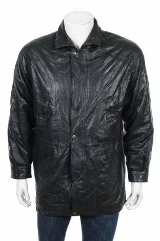 Мъжко кожено яке Seiden Leder, Размер XL, Цвят Син, Естествена кожа, Цена 22,50лв.