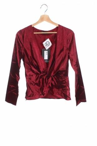 Bluză de femei Pretty Little Thing, Mărime S, Culoare Roșu, Poliester, Preț 27,84 Lei