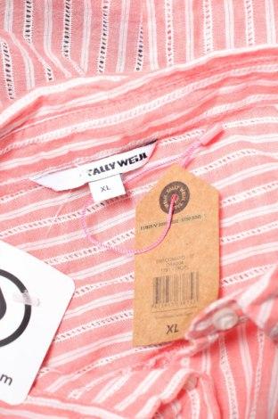 Γυναικείο πουκάμισο Tally Weijl, Μέγεθος XL, Χρώμα Ρόζ , Βαμβάκι, Τιμή 3,16€