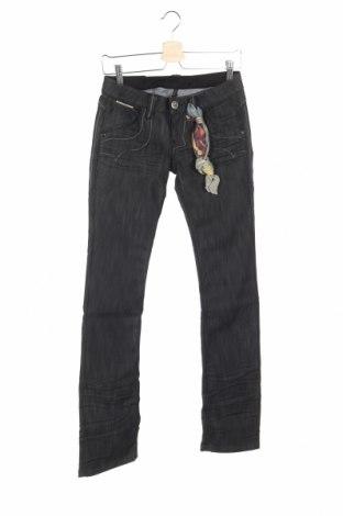 Дамски дънки Bandits Du Monde, Размер XS, Цвят Черен, 64% памук, 36% еластан, Цена 18,72лв.