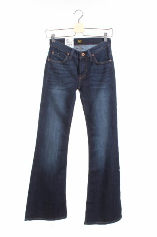 Дамски дънки Lee, Размер XS, Цвят Син, 71% памук, 29% еластан, Цена 14,95лв.